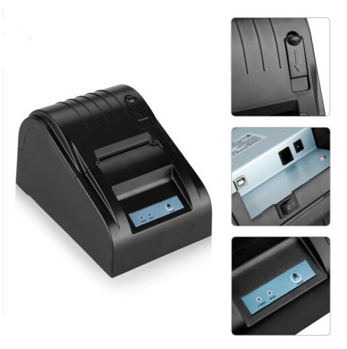 Thermal printer POS-5890T supermarket cash register printer usb small ticket printer (Black Pos 5890T USB) - Direct Dropship