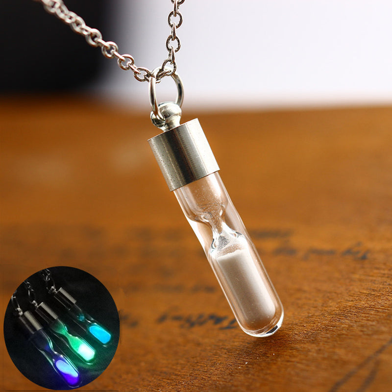 Hourglass Crystal Drift Bottle Pendant - Direct Dropship