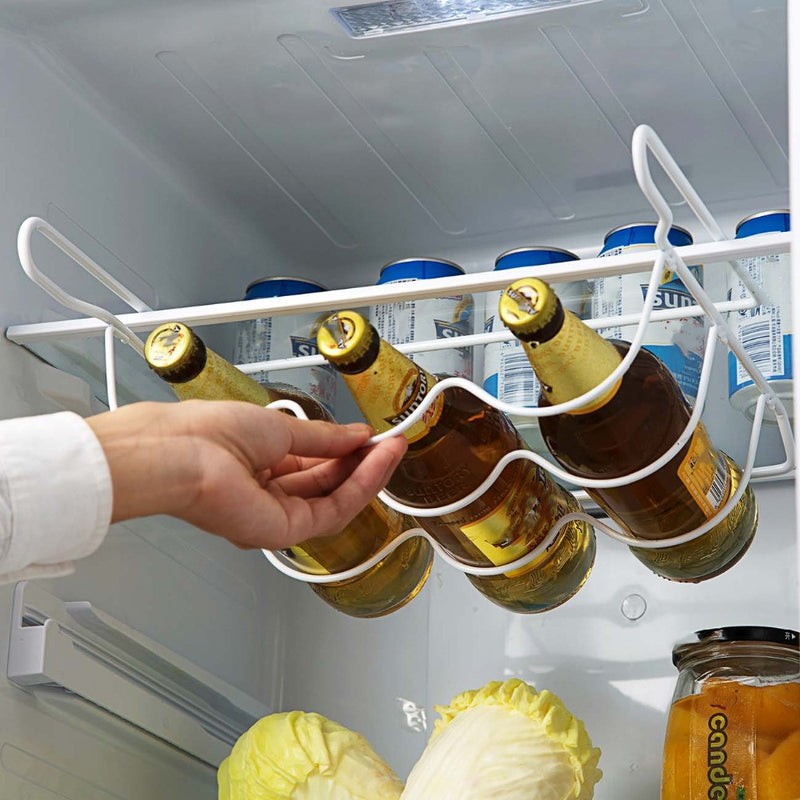 Wrought iron beer rack refrigerator shelf (White) - Direct Dropship