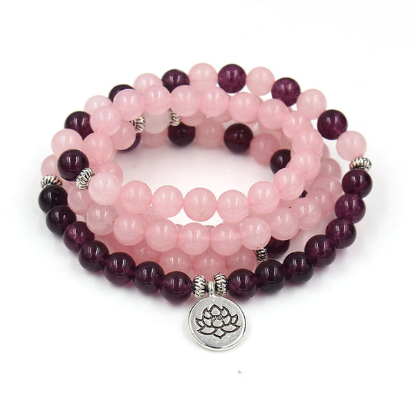 Natural powder crystal amethyst bracelet - Direct Dropship