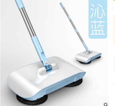 Hand Push Sweeper Household Broom Dustpan Mop Floor All-in-one Machine Gift Mop Sweeper - Direct Dropship