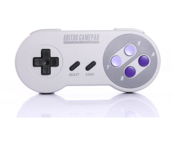 8 seat SNES30 wireless game controller (gray blue button) (SNES30) - Direct Dropship