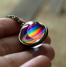 Nebula Galaxy Double Sided Pendant Necklace - Direct Dropship