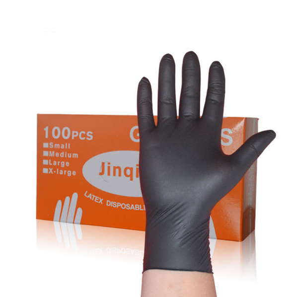 Black nitrile nitrile disposable gloves - Direct Dropship