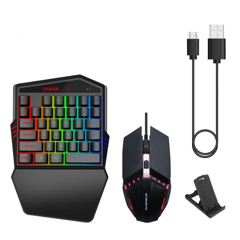 Gaming Keyboard Throne One Mouse Set (Black) - Direct Dropship