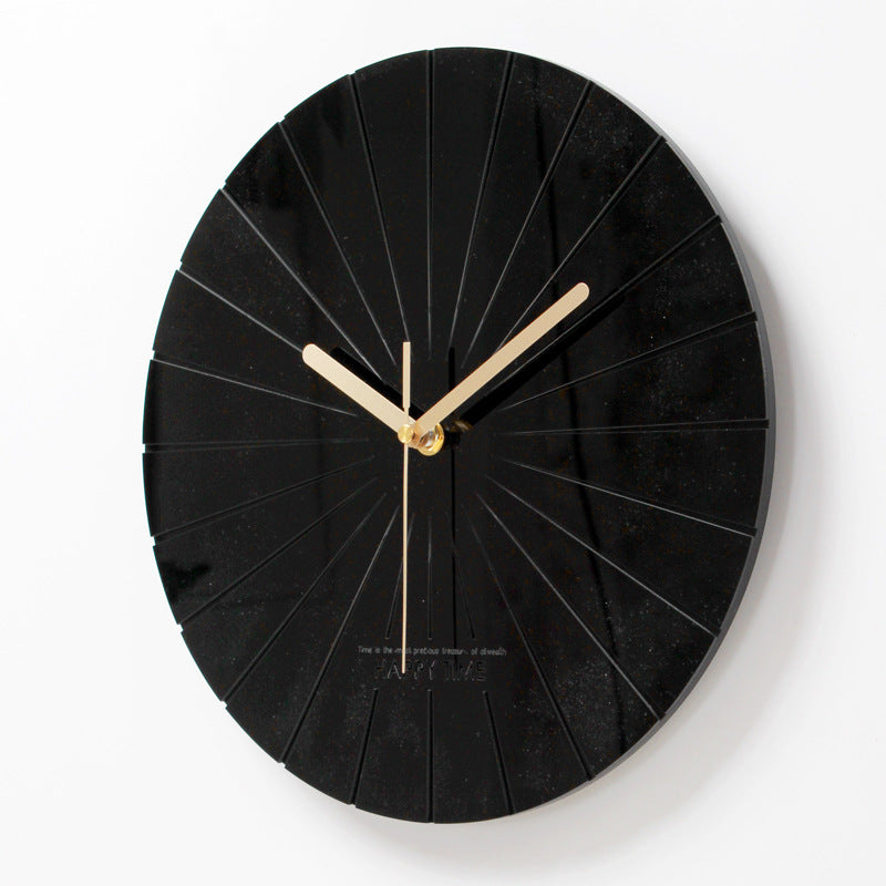 Acrylic solid wall clock (12inch) - Direct Dropship