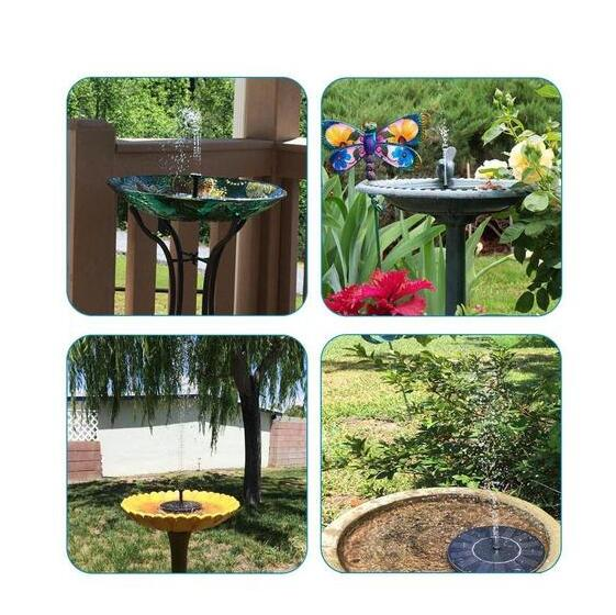 Solar Powered Bird Bath And Pond Fountain - Direct Dropship
