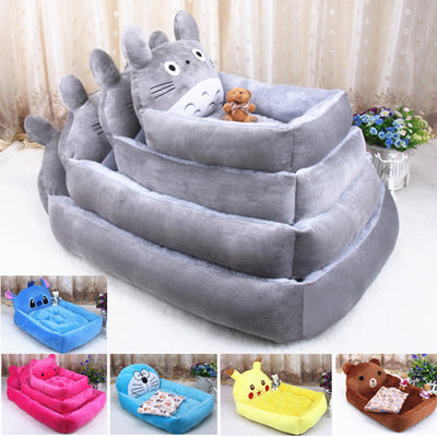 Cute cartoon dog Tactic poodle Samoye autumn winter warm nest pet dog bedfactory direct - Direct Dropship