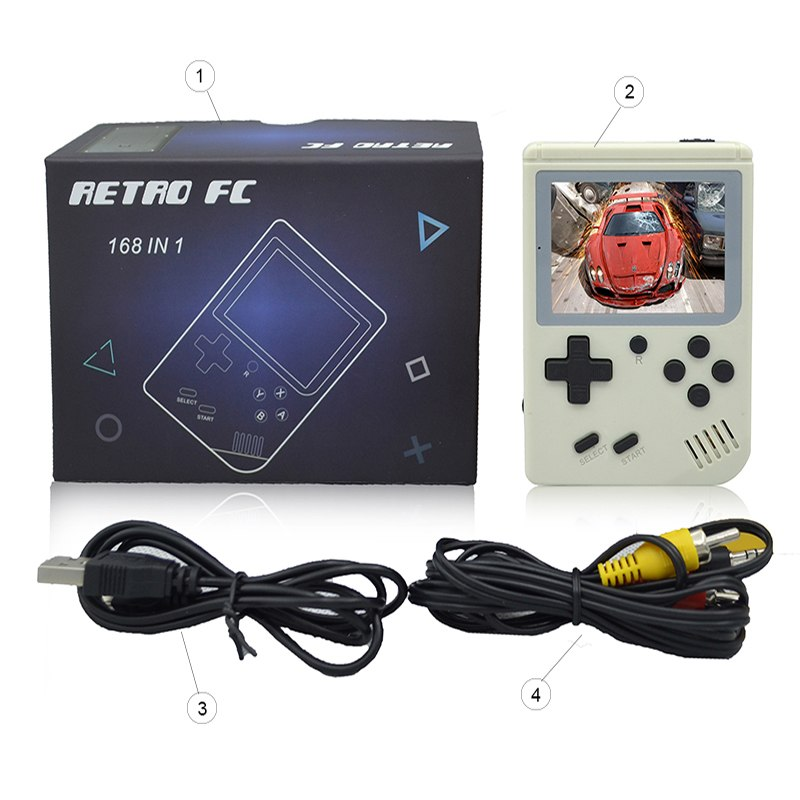 Mini game console classic handheld mini king game console with color screen built in - Direct Dropship