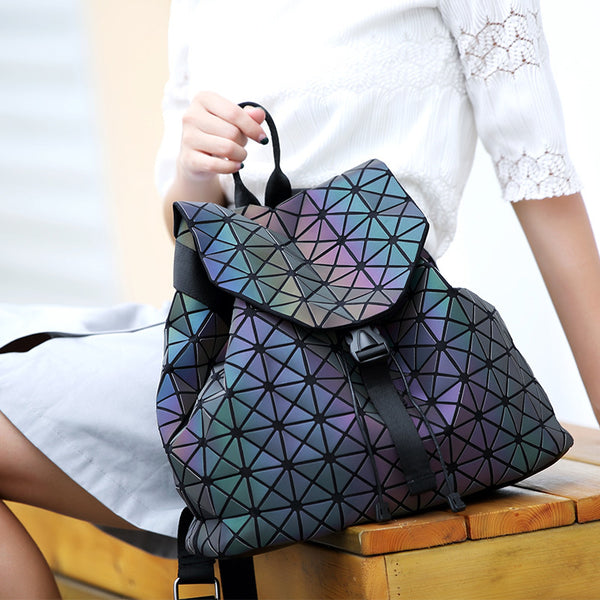 Geometric lattice luminous backpack - Direct Dropship