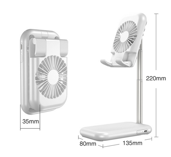 USB small fan cooling mobile phone bracket - Direct Dropship