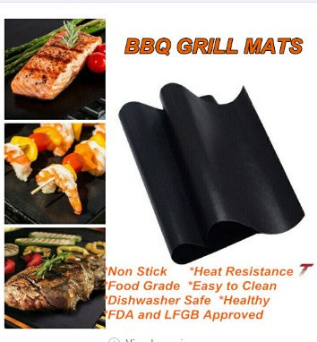 1pcs Reusable Non-stick Surface BBQ Grill Mat Baking Sheets - Direct Dropship