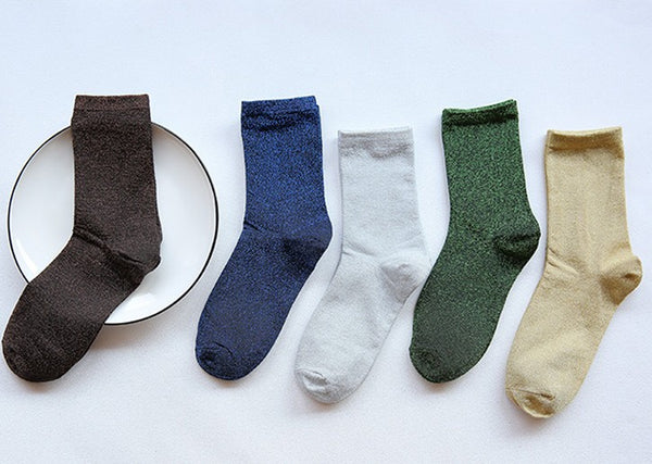 Pure colored whole cotton piled stocking - Direct Dropship