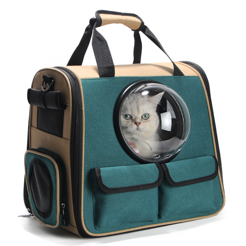 Cat Dog Out Door Portable Backpack (Green) - Direct Dropship