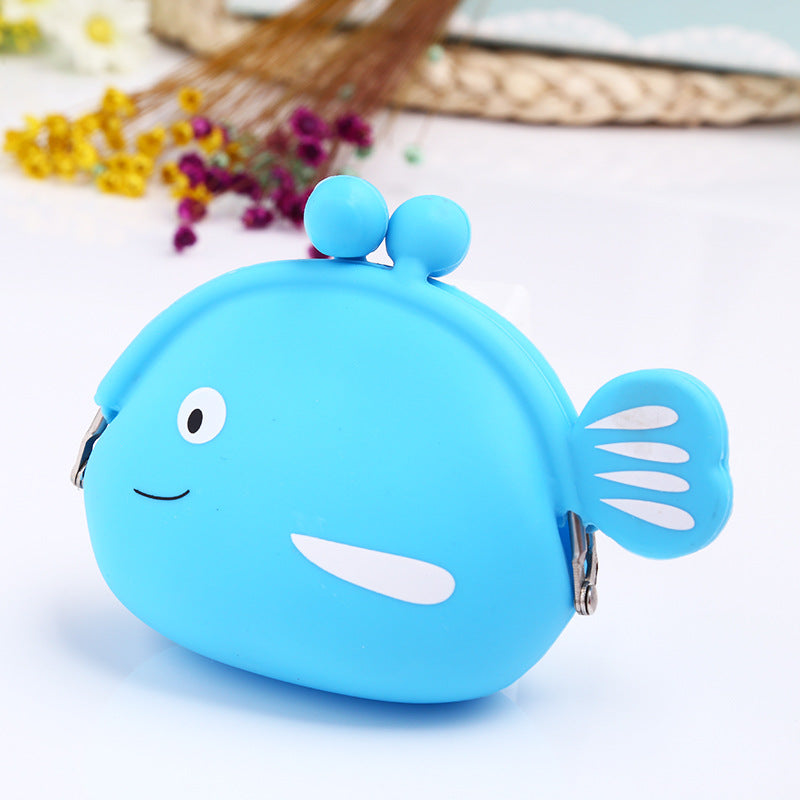 Manufacturers wholesale silica gel small fish bag, silica gel zero wallet silicone coin bag - Direct Dropship