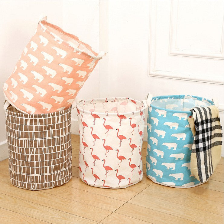 Foldable laundry basket, cotton and linen laundry basket, bathroom, laundry, dirty clothes, dirty clothes, toy storage basket - Direct Dropship