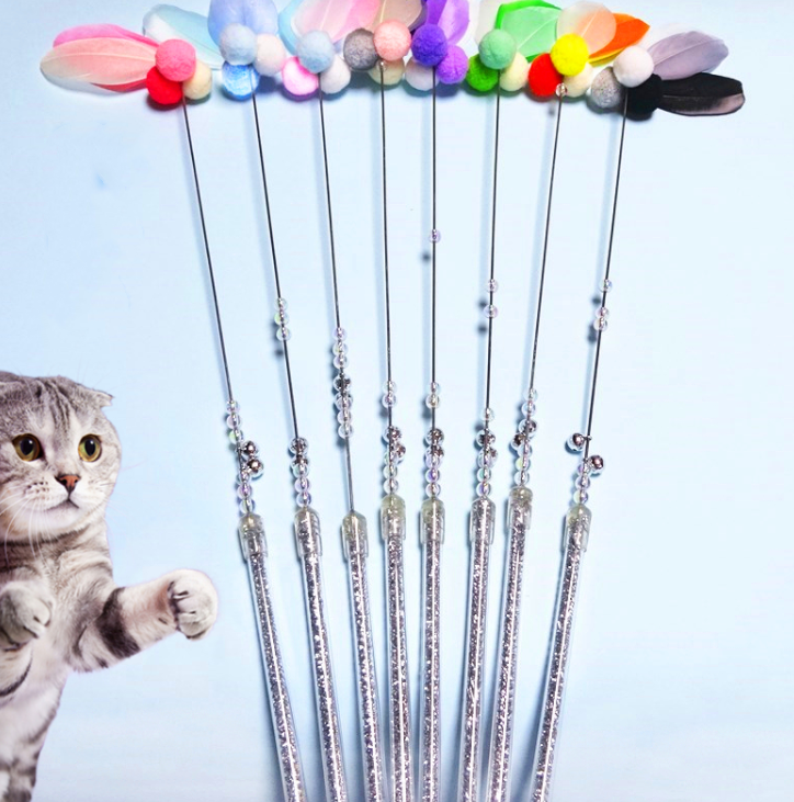 Feathered cat stick - Direct Dropship