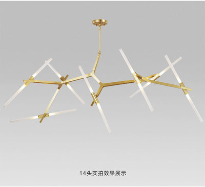 Modern fashion and creative branch LED lamps and lanterns personality restaurant living room bedroom lamp hotel project villa Chandelier - Direct Dropship