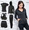 Autumn and winter yoga clothing suit running quick-drying clothes long-sleeved professional sportswear suit - Direct Dropship