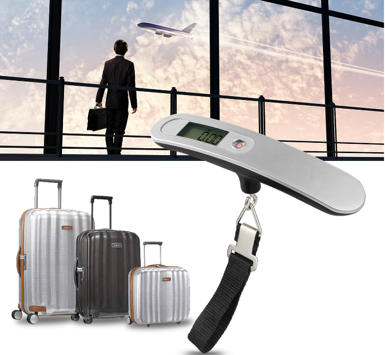 Selling T scale portable portable electronic baggage scale 50kg outdoor travel small scale (50KG 10G) - Direct Dropship