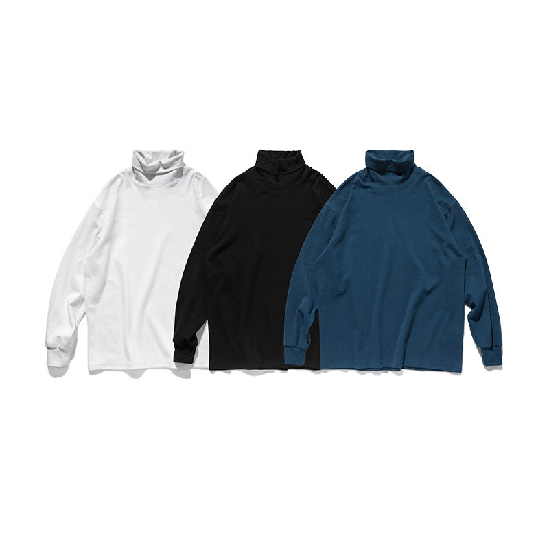 Solid color high collar long sleeve - Direct Dropship