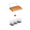 Multi-function cutting board with shelf - Direct Dropship
