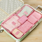 Travel clothing bra storage bag 6 and 7 sets of classification storage bag luggage sorting bag clothing dispensing bag - Direct Dropship