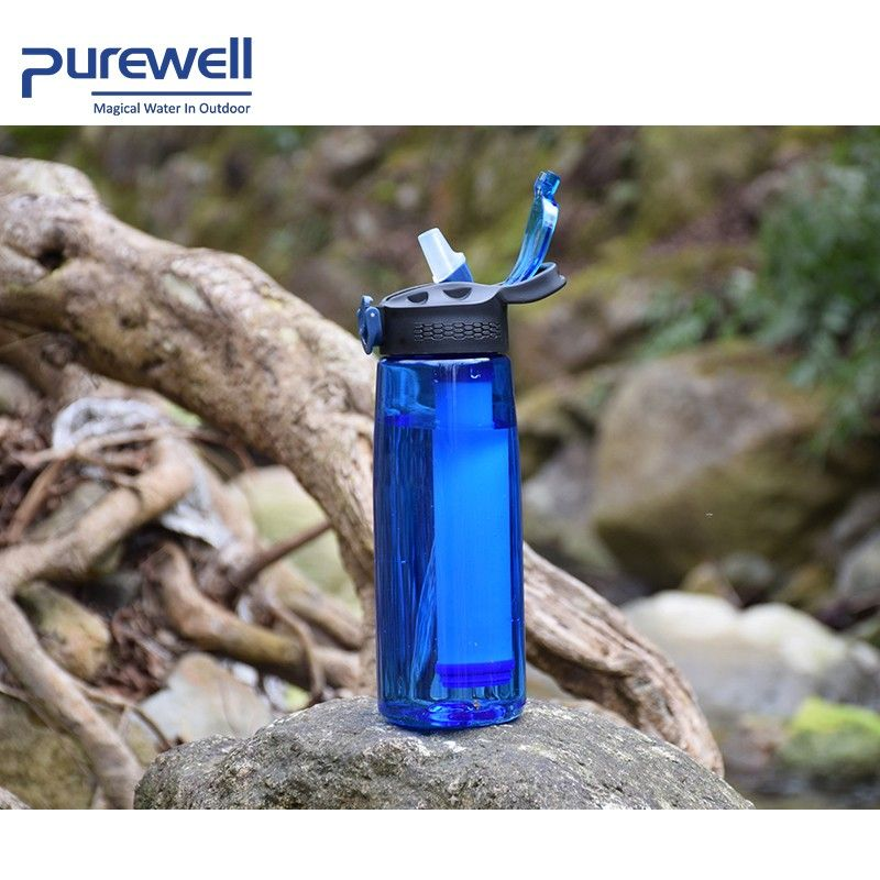 Blue water filter with kettle