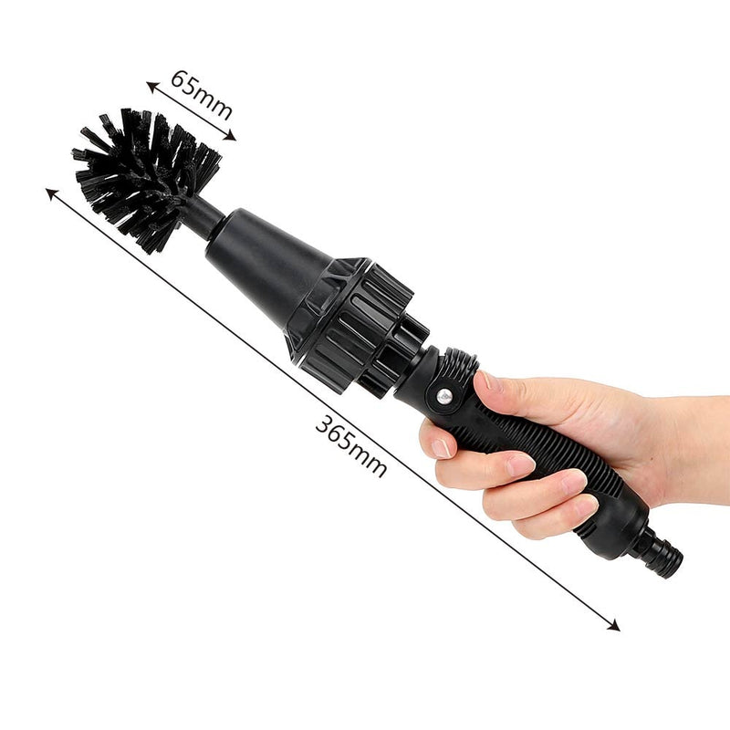 Water-driven Rotary Cleaning Brush Wash Hand-held Water Spray Brush - Direct Dropship