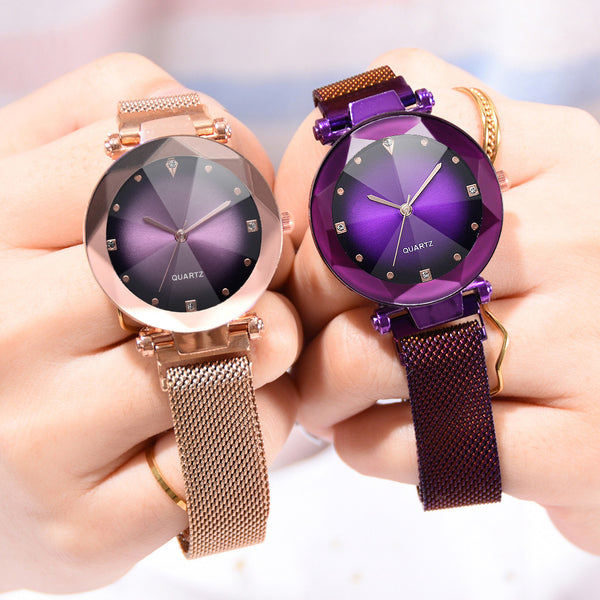 Korean fashion network red magnet stone ladies watch micro-business explosions lazy Milan fashion watch - Direct Dropship