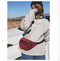 Trendy fashion retro corduroy small chest bag multi-function pockets fitness portable Messenger bag casual travel handbags - Direct Dropship