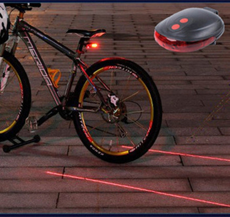 Bicycle Tail Light (5LED+2Laser) Waterproof Cycling Bike Light 7 Cool Flash Mode Bike Rear Lights For Bike Accessories Lights - Direct Dropship