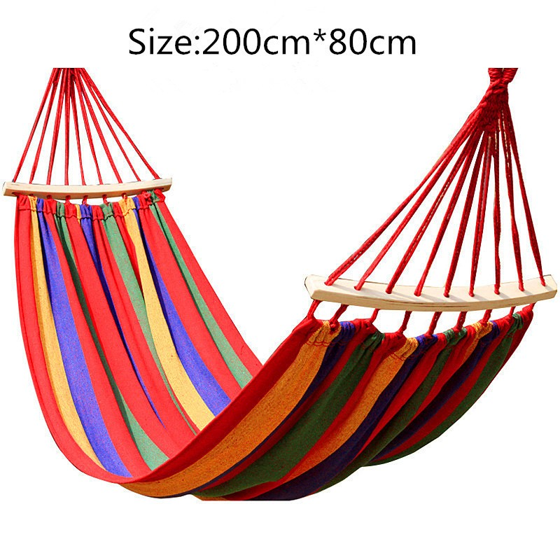 200*80cm Backpacking Hammock - Portable Canvas Parachute Outdoor Single Hammock - Direct Dropship