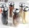 7pcs/set Condiment Set Pepper and Salt Cruet glass Kitchen Spice Rack Set,6pcs Jars + 1pc Rack,cooking tools high quality. - Direct Dropship