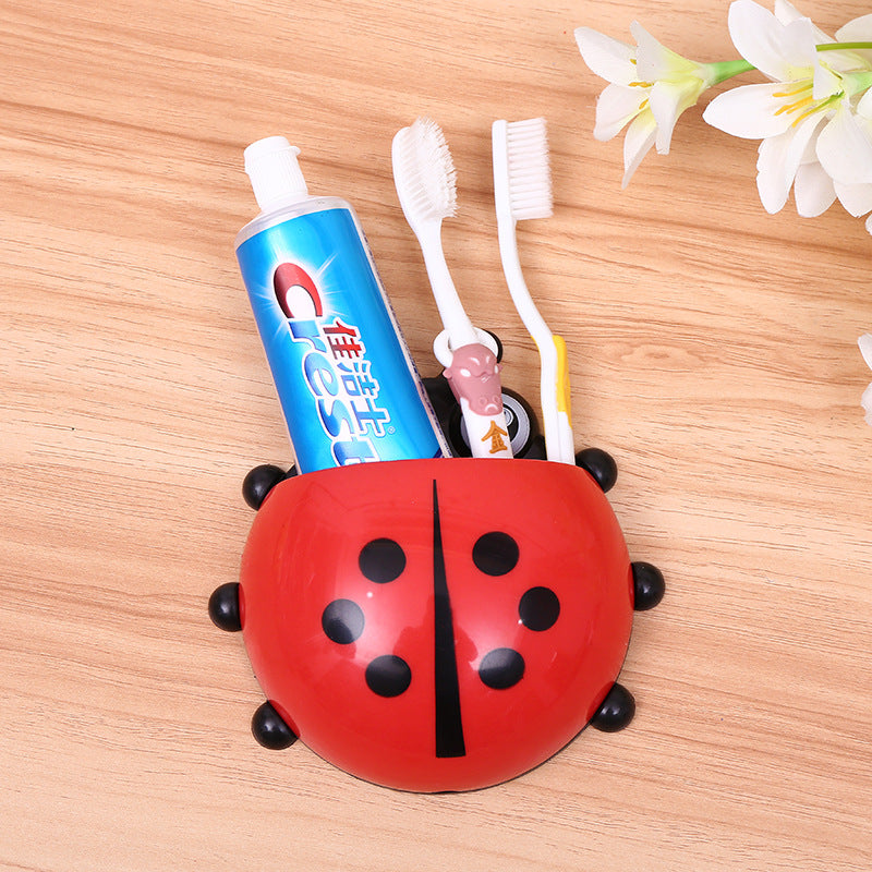 creative cartoon toothbrush holder storage rack bathroom wall suction suction toothbrush seat - Direct Dropship
