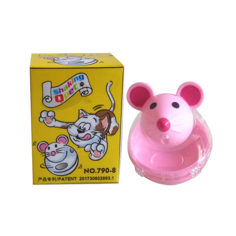Pet leaking device mouse tumbler funny cat interactive toy - Direct Dropship