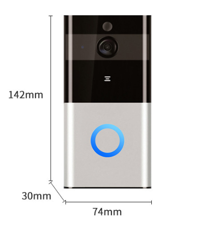 Smart video doorbell wireless WIFI network monitoring home long-distance mobile phone remote intercom doorbell - Direct Dropship