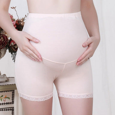 Pregnant women stomach lift shorts anti-light three-point lace safety pants adjustable leggings - Direct Dropship
