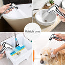 Handheld Bidet Sprayer Toilet Bathroom Douche Cloth Washing Diaper Cleaning Shower Head with Wall Bracket Hose Set Pet Bath, Closestool, Squatting Pan, Water Flower, Floor Cleaning LAOPAO - Direct Dropship