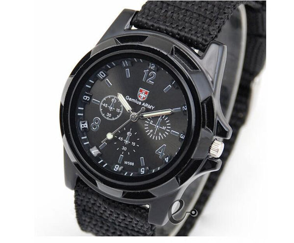 Cloth belt weaving belt military watch sea and land air force movement quartz military watch - Direct Dropship