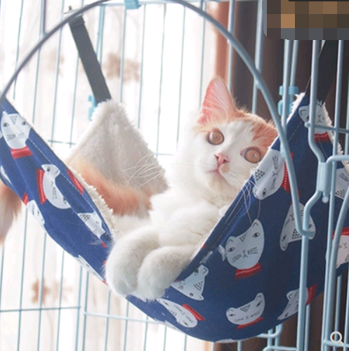 Cat cat hammock hanging nest cat cage with hammock hanging cat bed cat litter cat swing warm hanging bed four seasons cat mat - Direct Dropship