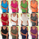 Women's off-the-shoulder bat loose wild T-shirt casual top - Direct Dropship