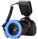 Traveller RF-550D ring flash with display flash (Black) - Direct Dropship