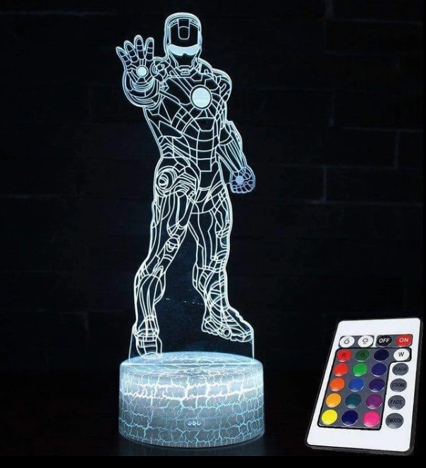 Marvel 3D Night Light Multicolour Control - Direct Dropship