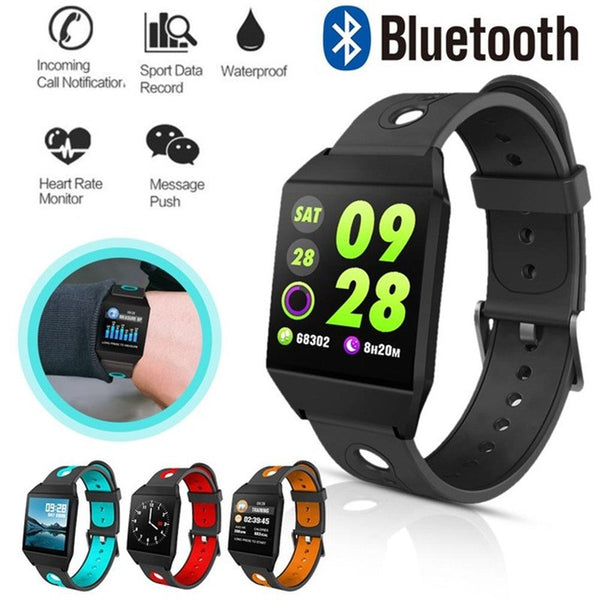 W1 Smart Bracelet Blood Pressure Measurement Color Screen Fitness Tracker Watch Waterproof IP68 Heart Rate Monitor GPS Tracker - Direct Dropship