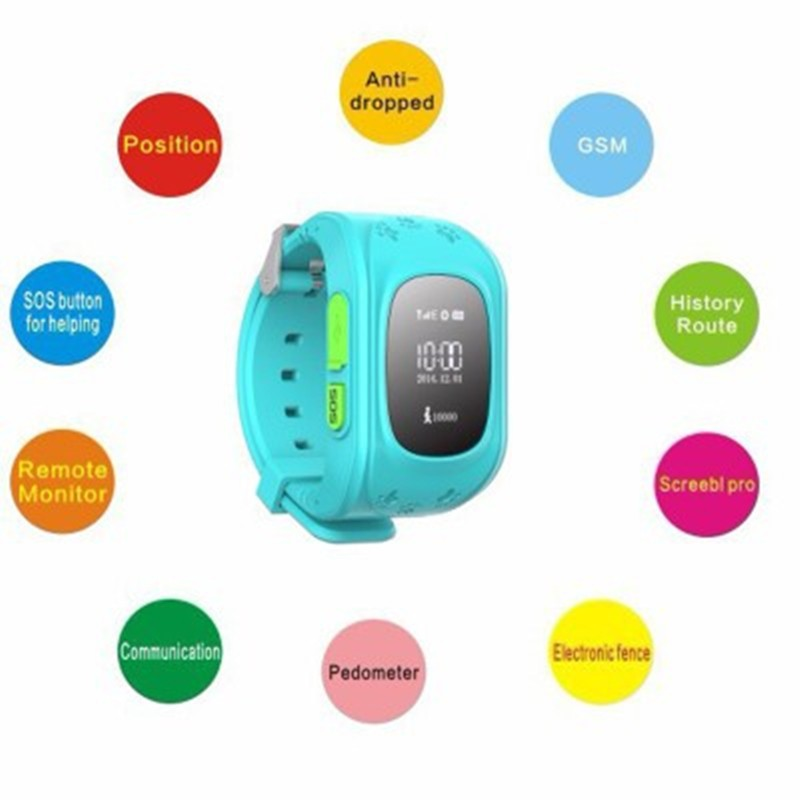 GPS Tracker Kids Smart Watch for Children Girls Boys Holiday Birthday with Camera SIM Calls Anti-lost SOS Smartwatch Bracelet for iPhone Android Smartphone - Direct Dropship