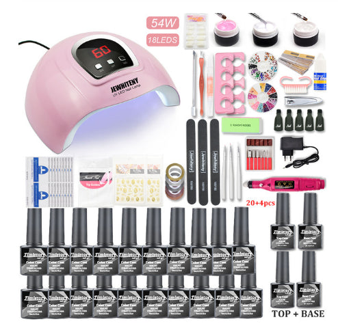 80W Nail Phototherapy Machine Set - Direct Dropship