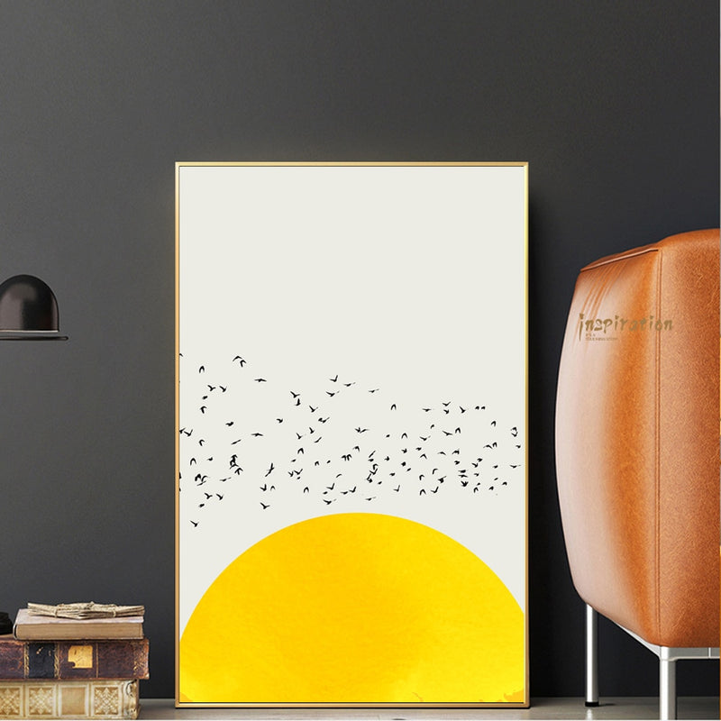 Nordic Simple Canvas Art Prints A Thousand Of Birds Abstract Canvas Art Wall Paintings