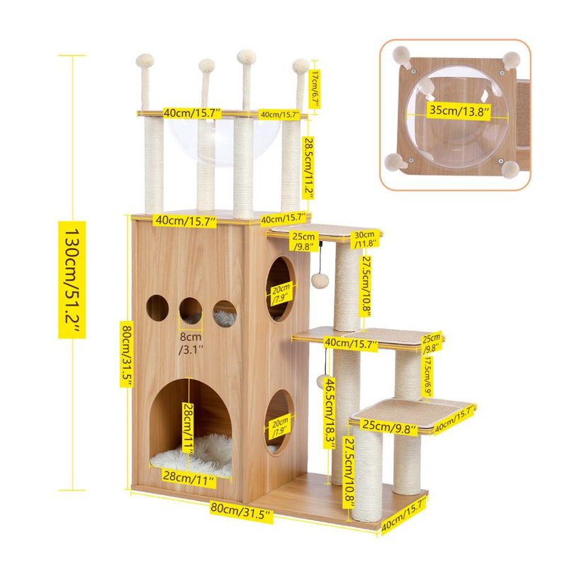 Cat Tree Furniture Tower Climb Activity Tree Scratcher Play House Kitty Tower Furniture Pet Play House