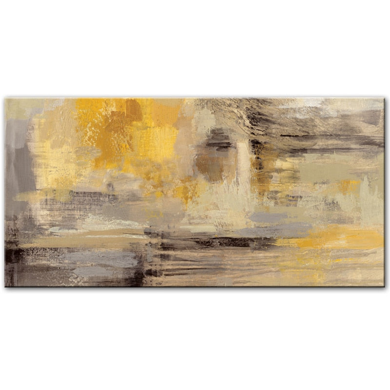 Abstract Yellow Oil Canvas Painting Posters and Prints Modern Scandinavian Wall Art Picture Bedroom for Kids Room  Decor